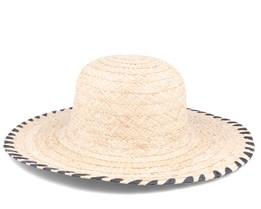 Raffia Floppy Linen Straw Hat - Seeberger