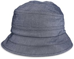 Cloche In Chambray Fabric Black Bucket - Seeberger
