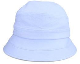 Cloche In Chambray Fabric Light Blue Bucket - Seeberger