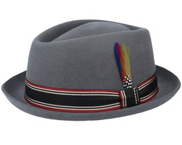 Woolfelt Diamond Charcoal Pork Pie - Stetson