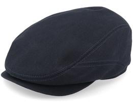 Belfast Driver Cap With Selvedge Black Flat Cap - Stetson