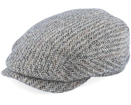Belfast Driver Cap Virgin Wool Herringbone Flat Cap - Stetson