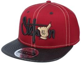 Baseball Shaka Cotton-8 Maroon/Black Snapback - Stetson