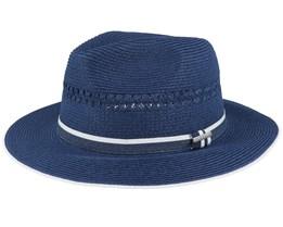 Tiller Toyo Navy Straw Hat - Stetson