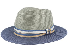 Tiller Toyo Green/Blue Straw Hat - Stetson