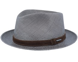 Player Panama Dark Grey Straw Hat - Stetson