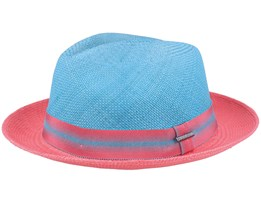 Panama Blue/Red Trilby - Stetson
