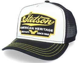 American Heritage White/Black Trucker - Stetson