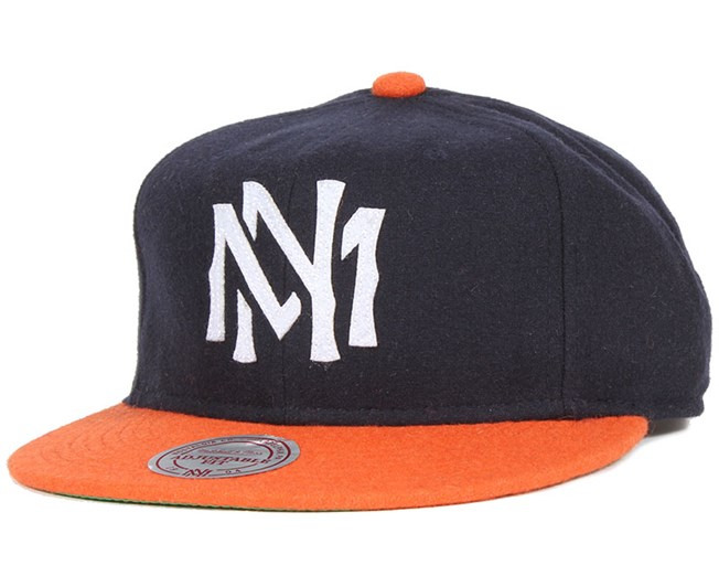 Sisto Navy/Orange Strapback - Michell & Ness
