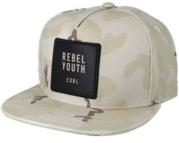 Youth Rebel Desert Camo Snapback - Cayler & Sons