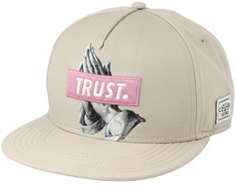 Trust Sand/Pink Snapback - Cayler & Sons