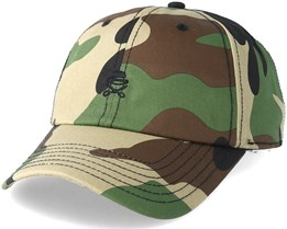 Pa Small Icon Curved Woodland Camo/Black Snapback - Cayler & Sons