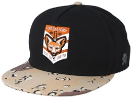 Hunted Black/Desert Camo Snapback - Cayler & Sons