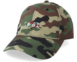 Bon Curved Woodland Camo/White Adjustable - Cayler & Sons