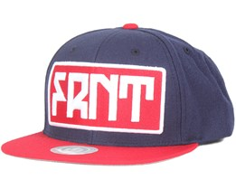 FRNT Navy Blue/Red Snapback - Upfront