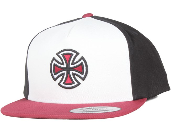 Crossbar Red Black White Snapback - Independent caps ... 6f063e488784
