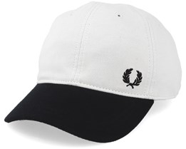 Pique Classic White/Black Adjustable - Fred Perry