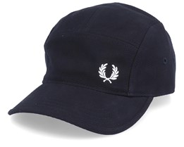 Textured Black 5-Panel - Fred Perry