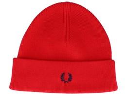 Merino Wool Crimson Red Cuff - Fred Perry