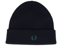Merino Wool Black/Green Cuff - Fred Perry