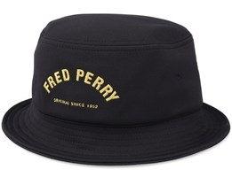 Arch Branded Hat Black Bucket - Fred Perry