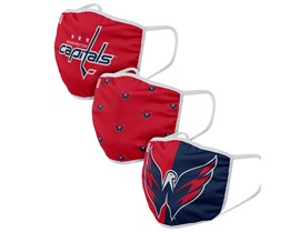 Washington Capitals 3-Pack NHL Red/Navy Face Mask - Foco