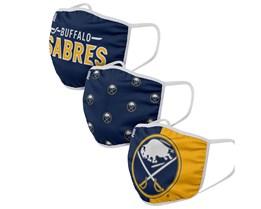 Buffalo Sabres 3-Pack NHL Navy Face Mask - Foco