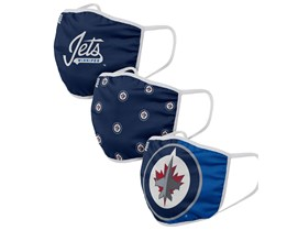 Winnipeg Jets 3-Pack NHL Navy Face Mask - Foco