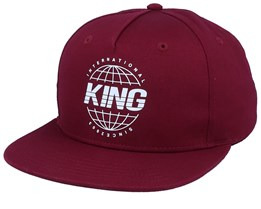 Bethnal Cement Oxblood Red Snapback - King Apparel