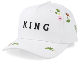 Stepney Curved Peak White Adjustable - King Apparel
