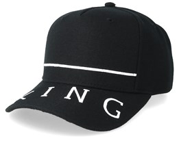 Leyton Curved Peak Black Adjustable - King Apparel