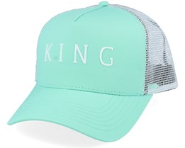 Leyton Curved Mint Trucker - King Apparel