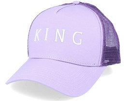 Leyton Curved Lilac Trucker - King Apparel