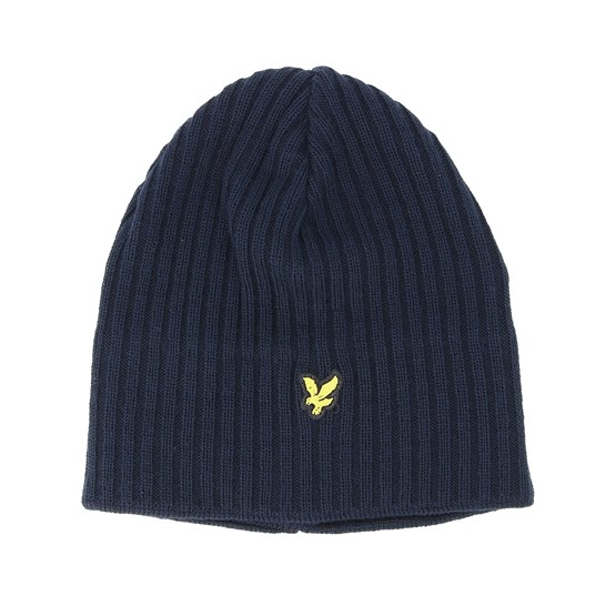 meet 36bee 4015c Knitted Ribben New Navy Beanie - Lyle   Scott beanies - Hatstorecanada.com