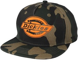 Oakland Camo/Orange Snapback - Dickies