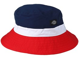 Freeville Navy Blue/White/Red Bucket - Dickies