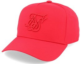 Crushed Nylon Full Trucker Red Adjustable - SikSilk