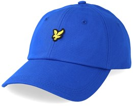 Cotton Twill Baseball Cap Duke Blue Adjustable - Lyle & Scott