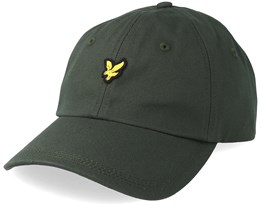 Cotton Twill Baseball Cap Leaf Green Adjustable - Lyle & Scott