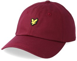 Cotton Twill Baseball Cap Claret Jug Red Adjustable - Lyle & Scott