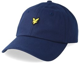 Cotton Twill Baseball Cap Dark Navy Adjustable - Lyle & Scott
