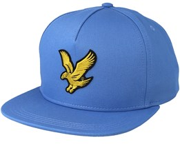 Colour Black Eagle Cornflower Blue Strapback - Lyle & Scott