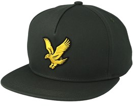 Colour Black Eagle Leaf Green Strapback - Lyle & Scott