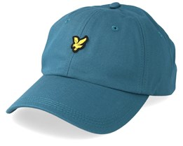 Cotton Twill Baseball Cap Petrol Teal Adjustable - Lyle & Scott