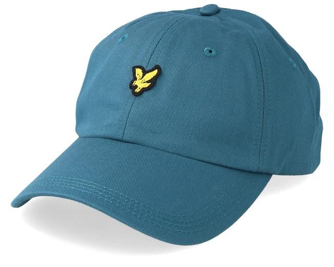 najlepsza strona internetowa sportowa odzież sportowa niesamowity wybór Cotton Twill Baseball Cap Petrol Teal Adjustable - Lyle ...
