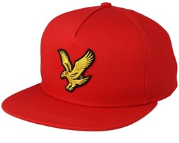 Eagle Cap Grenadine Red Strapback - Lyle & Scott