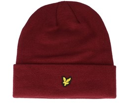 Puncho Beanie True Red Cuff - Lyle & Scott