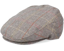 Tweed Khaki Flat Cap - Jaxon & James