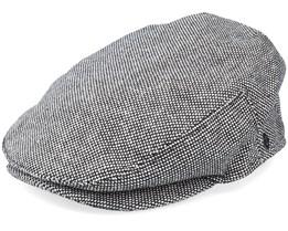 Marl Tweed Black Flat Cap - Jaxon & James