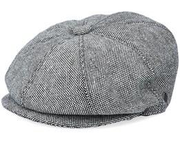 Marl Tweed Newsboy Black Flat Cap - Jaxon & James